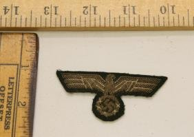 WWII NAZI GERMANY OFFICER'S BREAST EAGLE PATCH