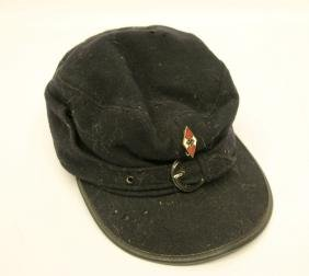 MILITARY HAT WITH HITLER YOUTH PIN