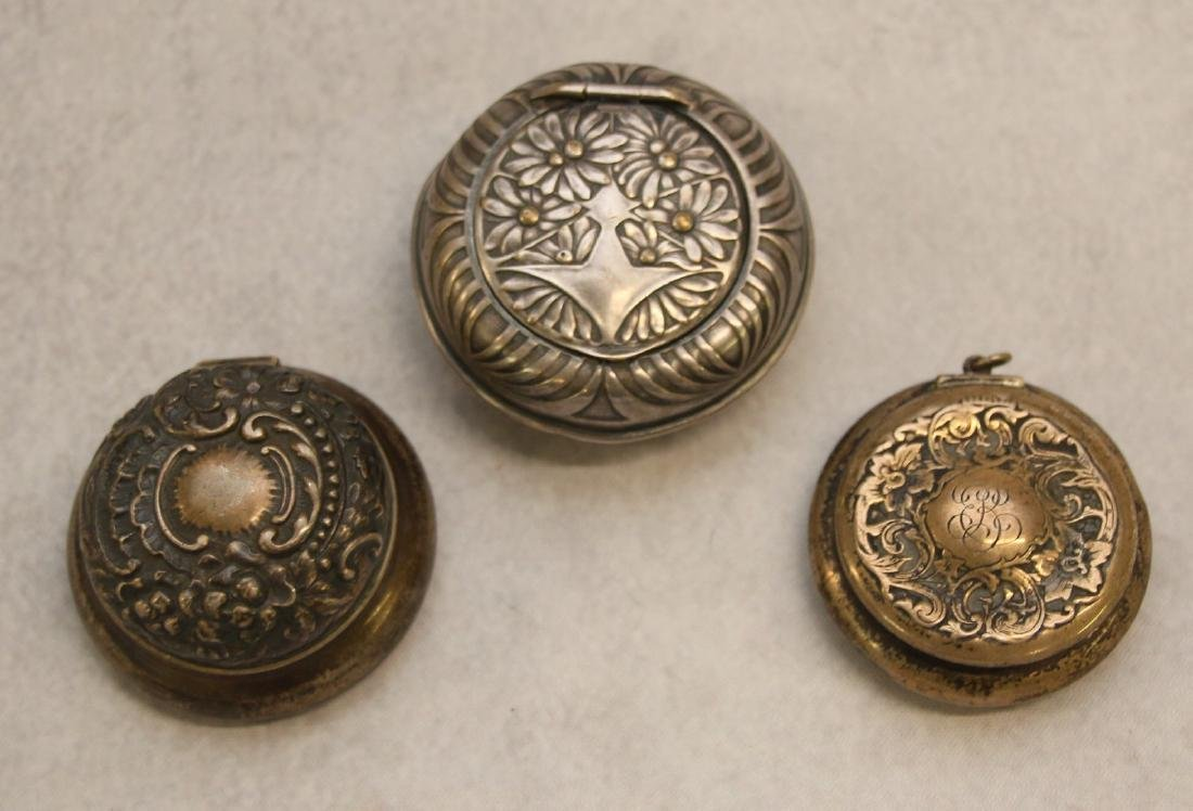 GROUP OF SILVER PILL BOXES