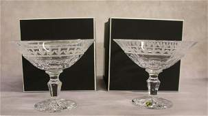 PAIR OF WATERFORD CRYSTAL COMPOTES