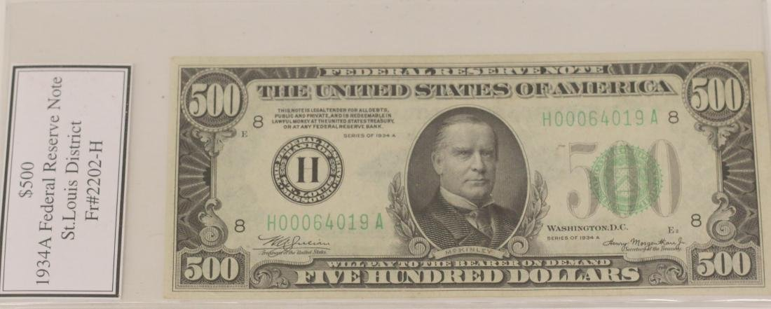 $500.00 FEDERAL RESERVE NOTE