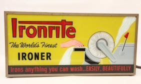 """Electric Mangle Display Sign, """"ironmaster Mangle"""""""