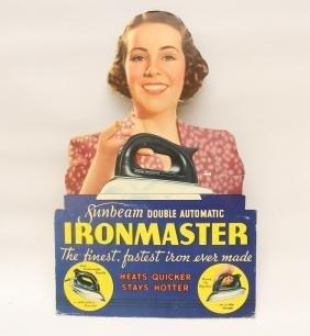 """Advertising Display Cardboard Sign, """"iron Master"""""""