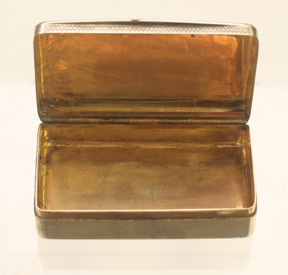 19TH CENTURY SILVER ENGRAVED BOX - 2