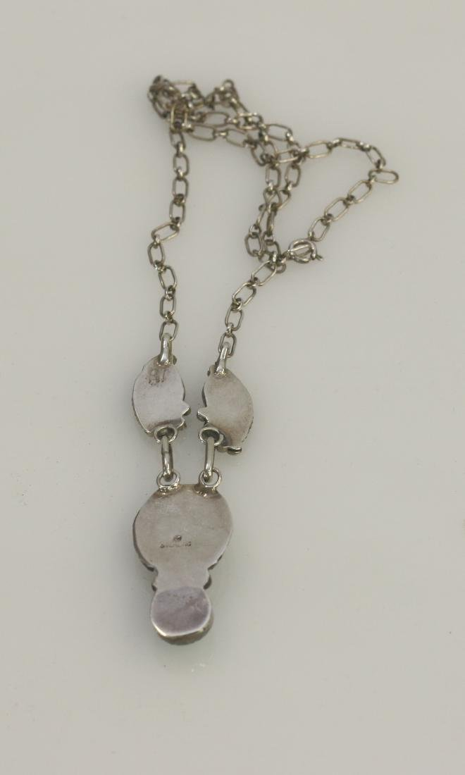 NATIVE AMERICAN STERLING NECKLACE - 2