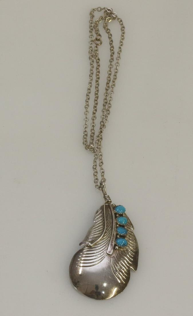 NATIVE AMERICAN STERLING PENDANT
