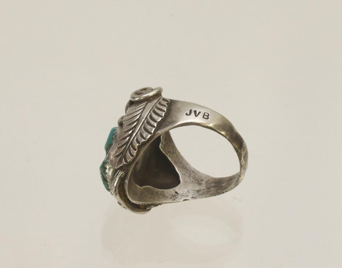 NATIVE AMERICAN STERLING RING - 3