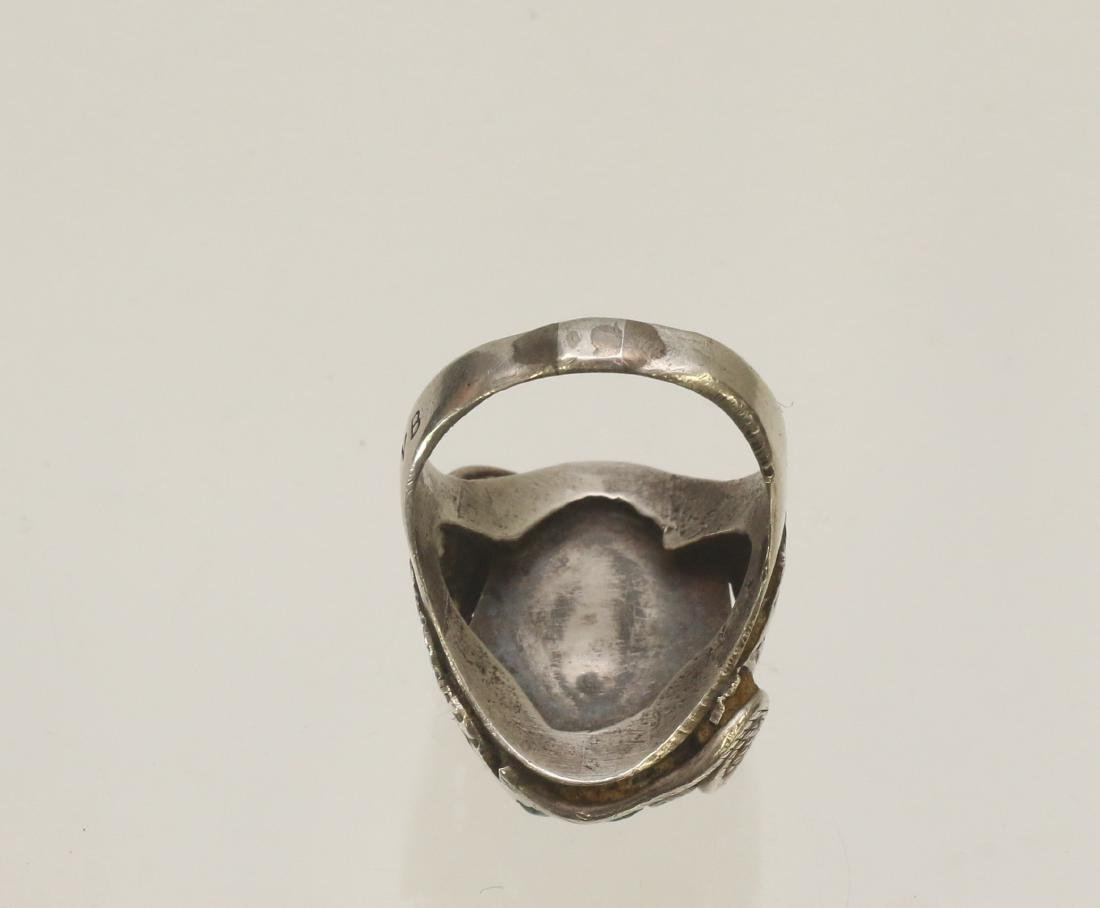 NATIVE AMERICAN STERLING RING - 4