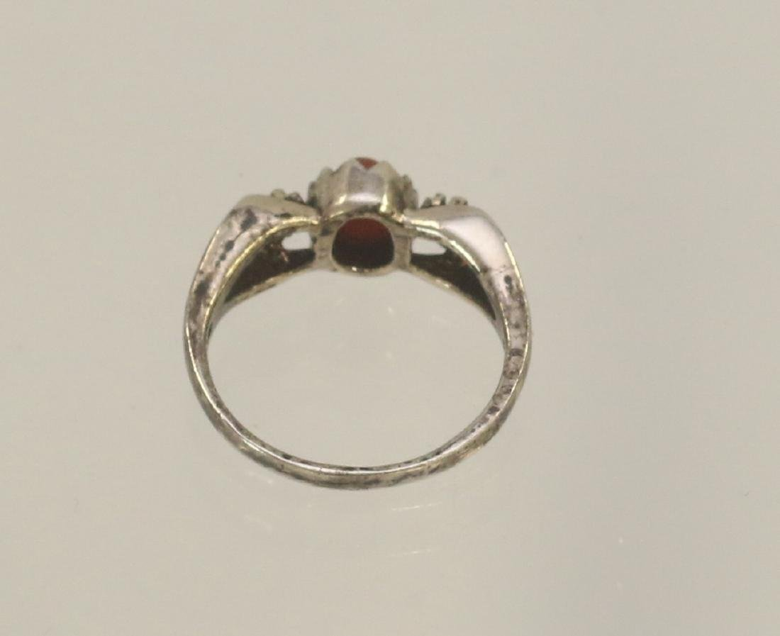 STERLING SILVER AND CARNELIAN RING - 2