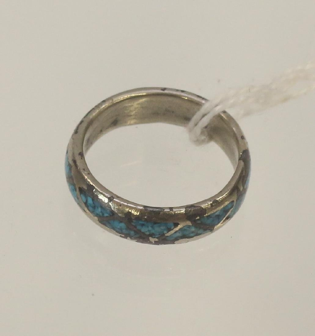 STERLING SILVER TURQUOISE BAND