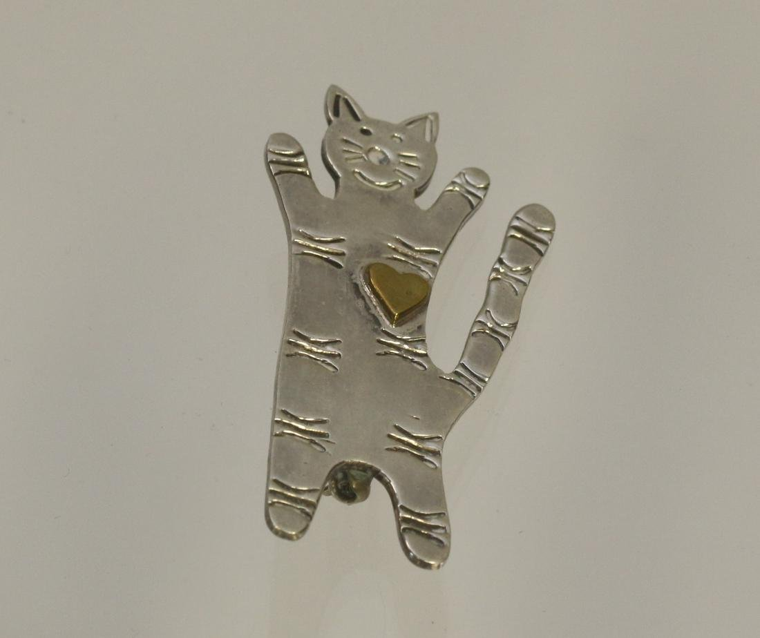 STERLING CAT BROACH