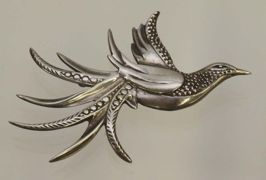 STERLING SILVER BIRD BROACH