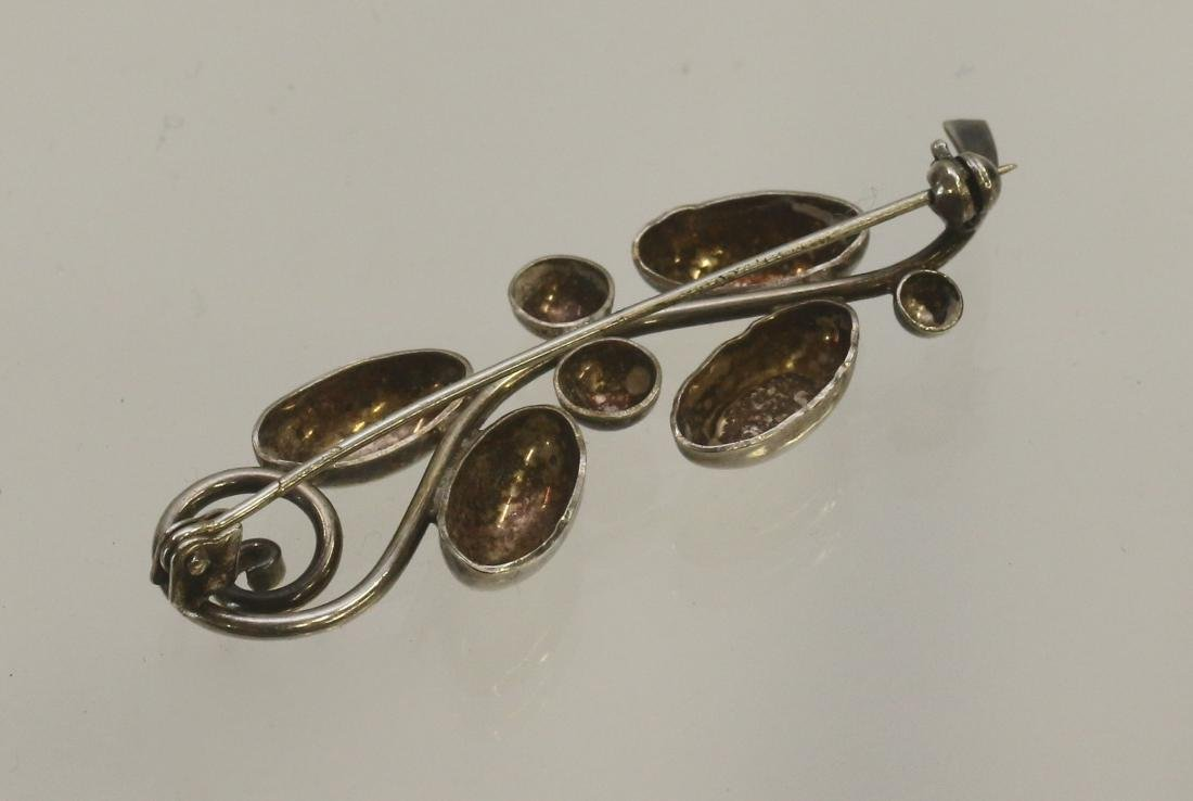 STERLING SILVER BERRY BROACH - 2