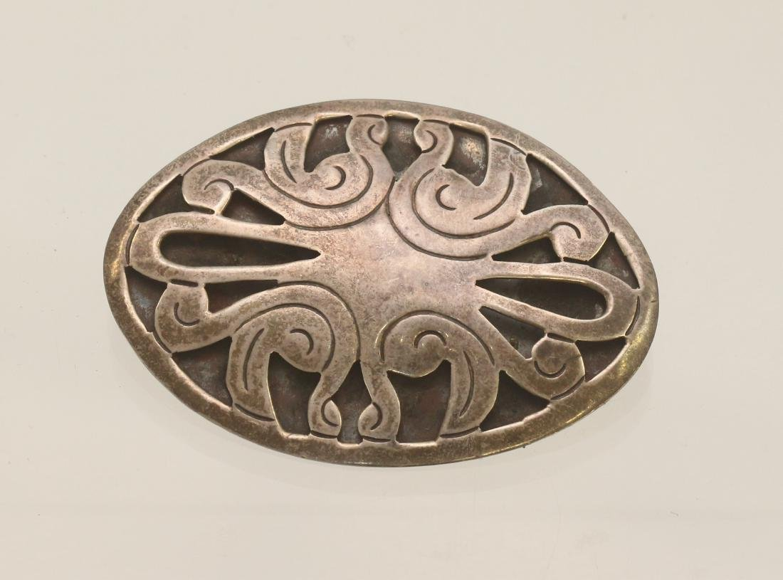 STERLING SILVER MEXICAN BROACH