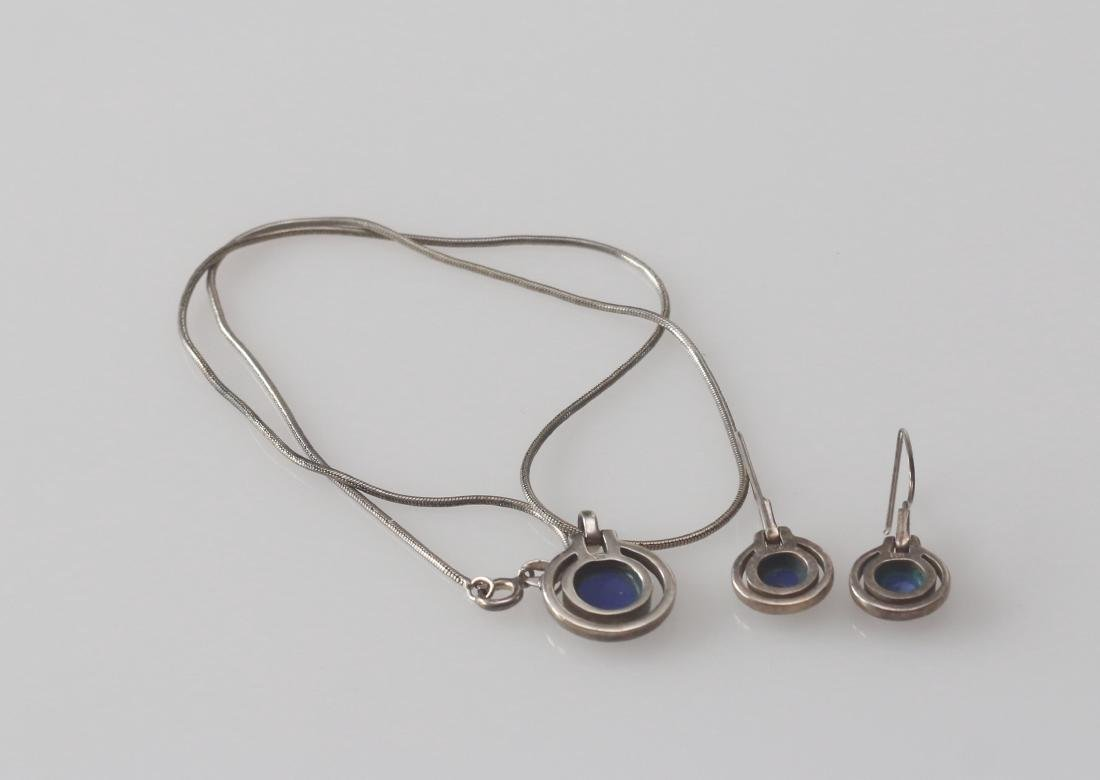 STERLING SILVER NECKLACE AND EARRINGS - 2