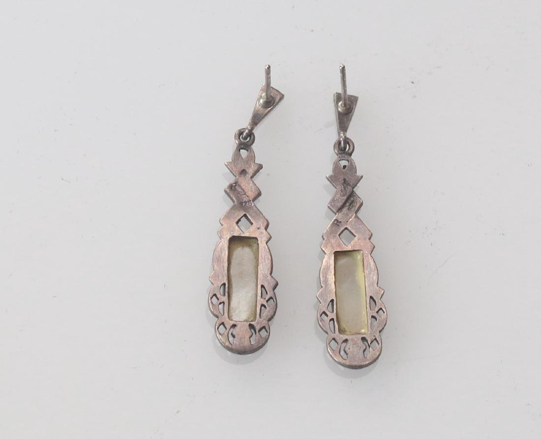 STERLING SILVER AND MARCOSITE EARRINGS - 3