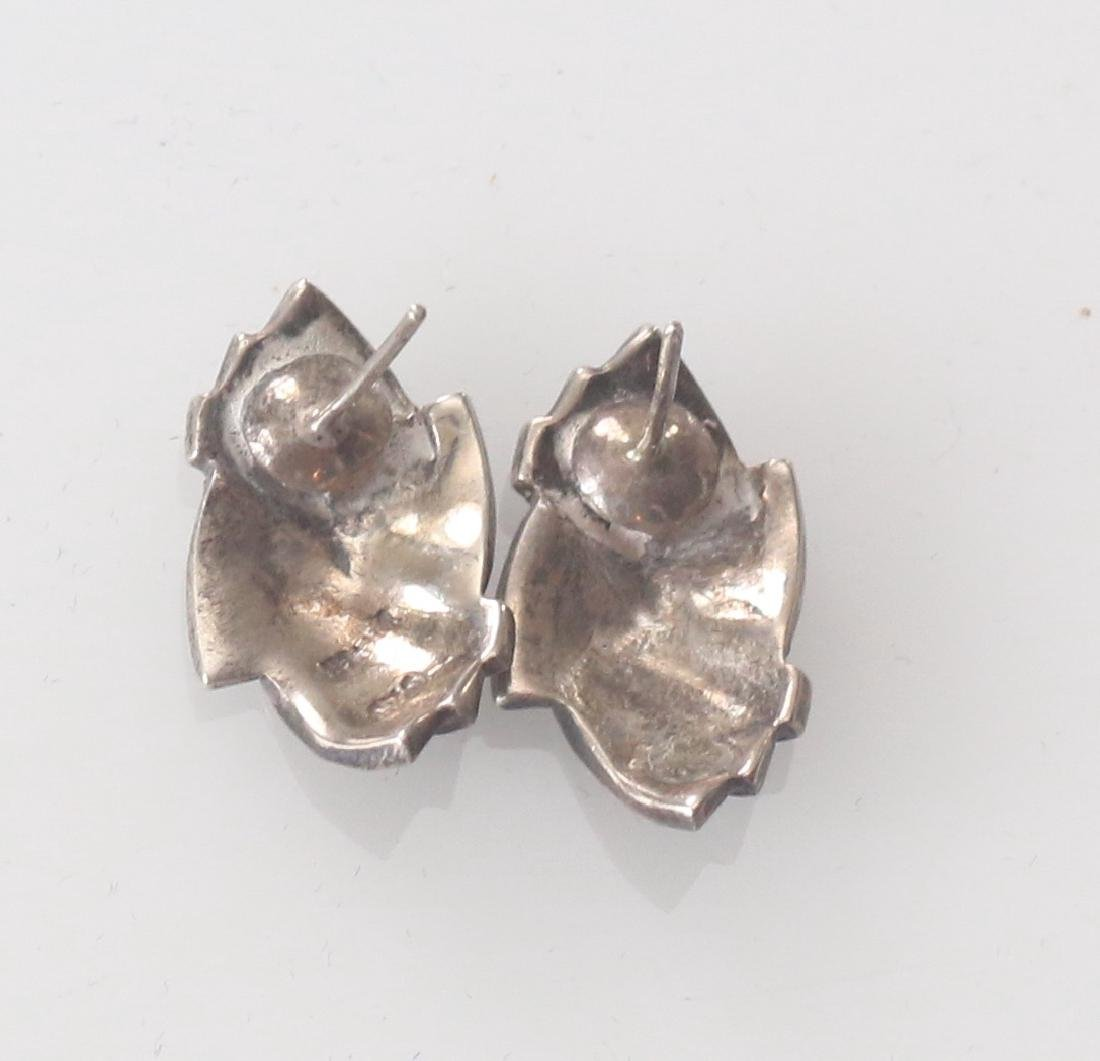 STERLING SILVER AND MARCOSITE EARRINGS - 2