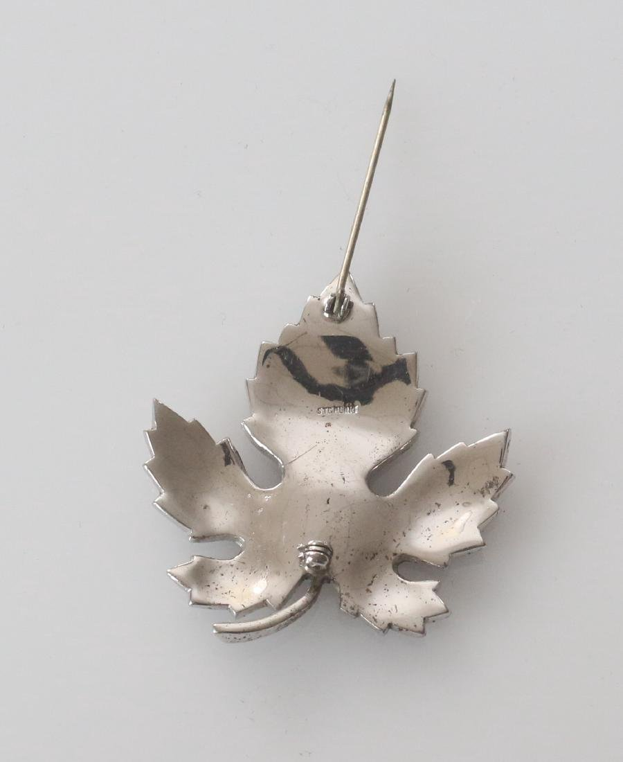 MARCOSITE AND STERLING SILVER BROACH - 3