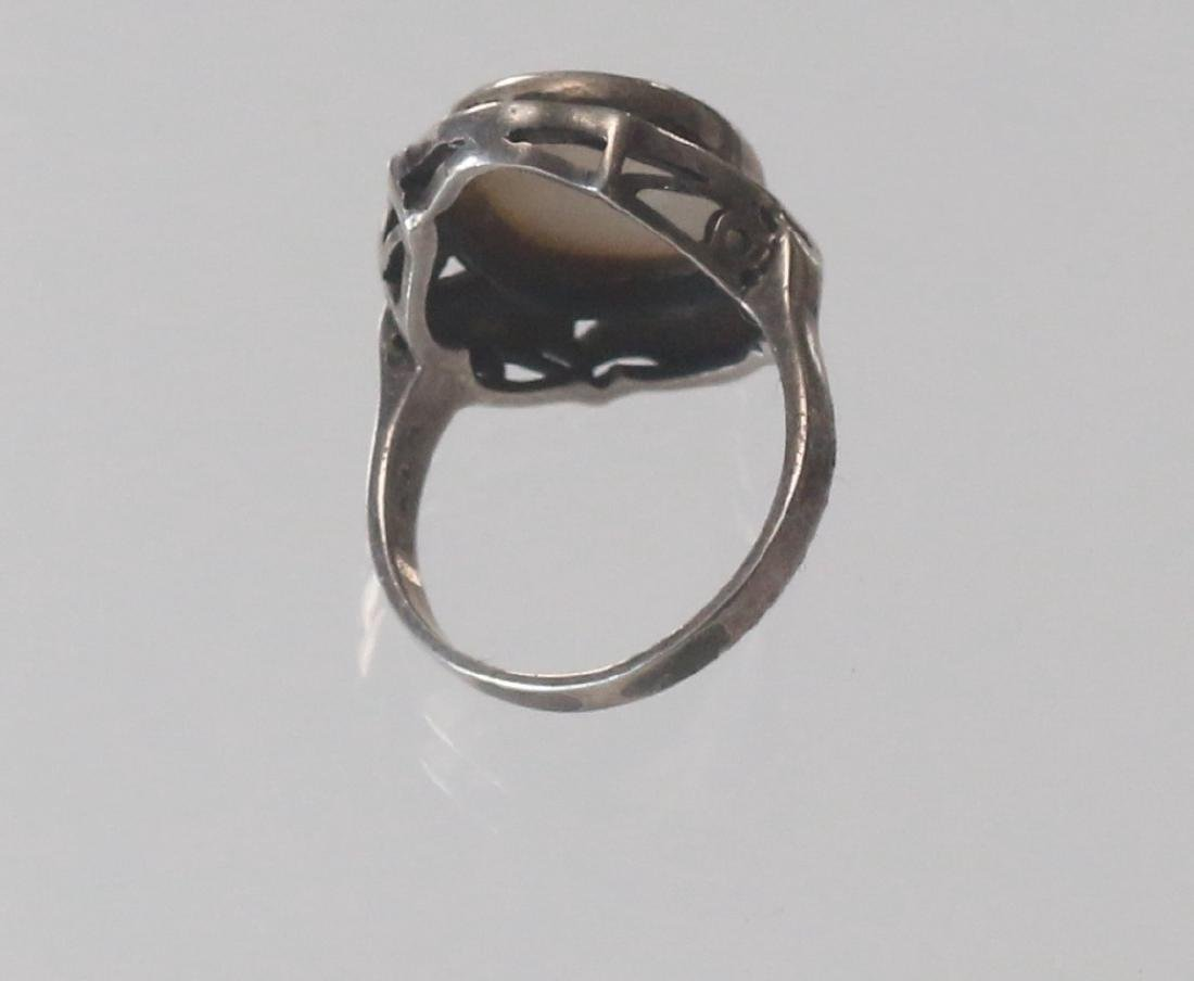 MARCOSITE AND STERLING SILVER RING - 3