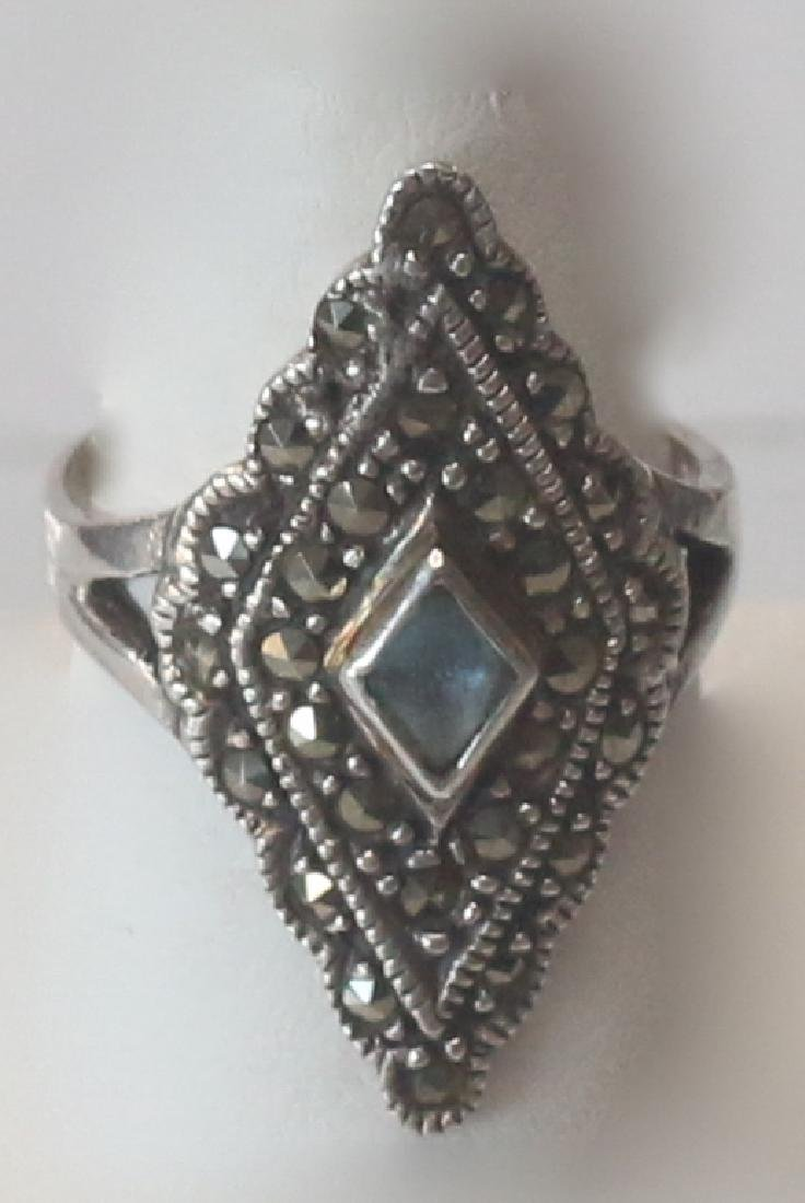 MARCOSITE AND STERLING SILVER RING