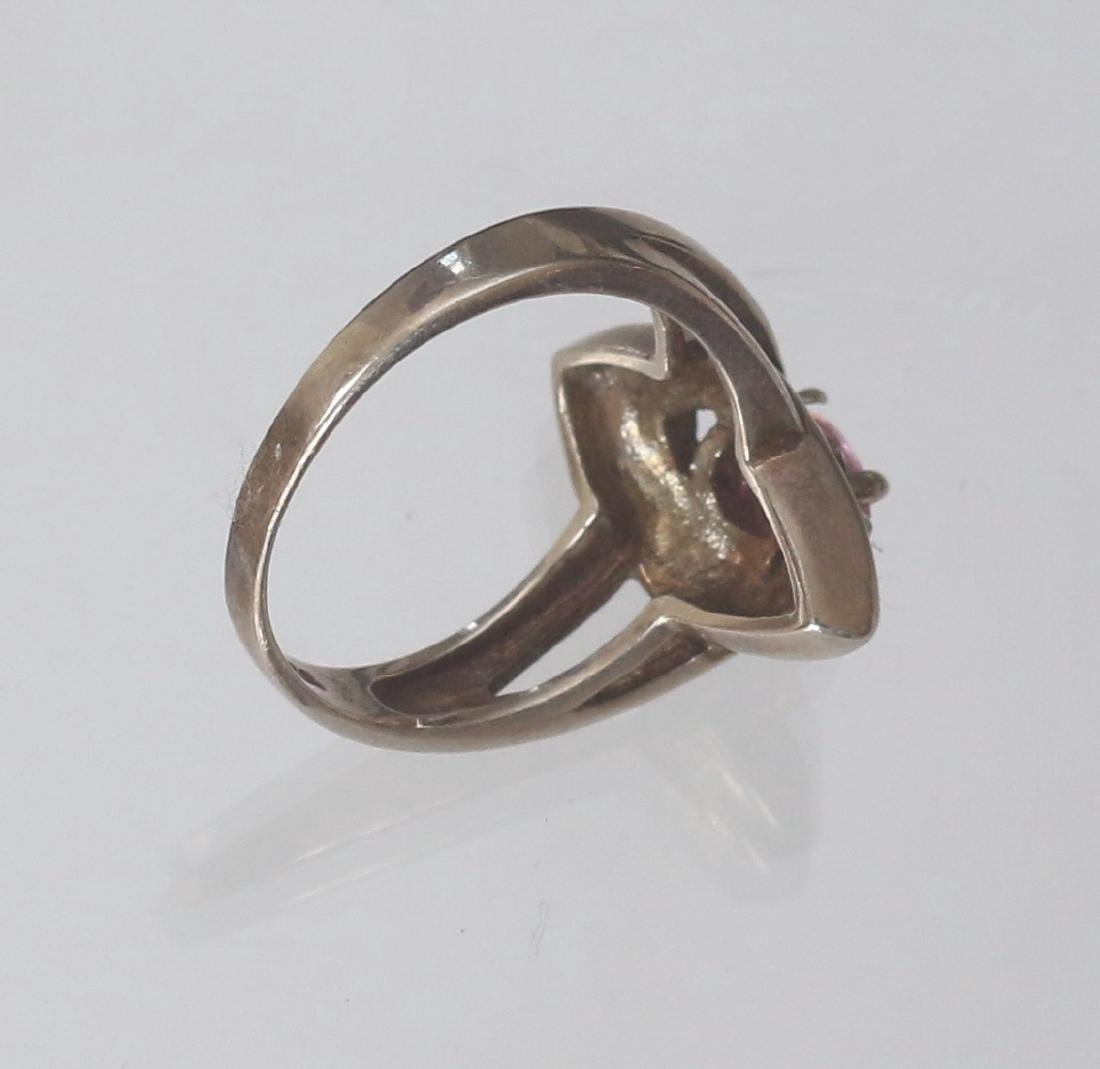 MARCOSITE AND STERLING SILVER RING - 2