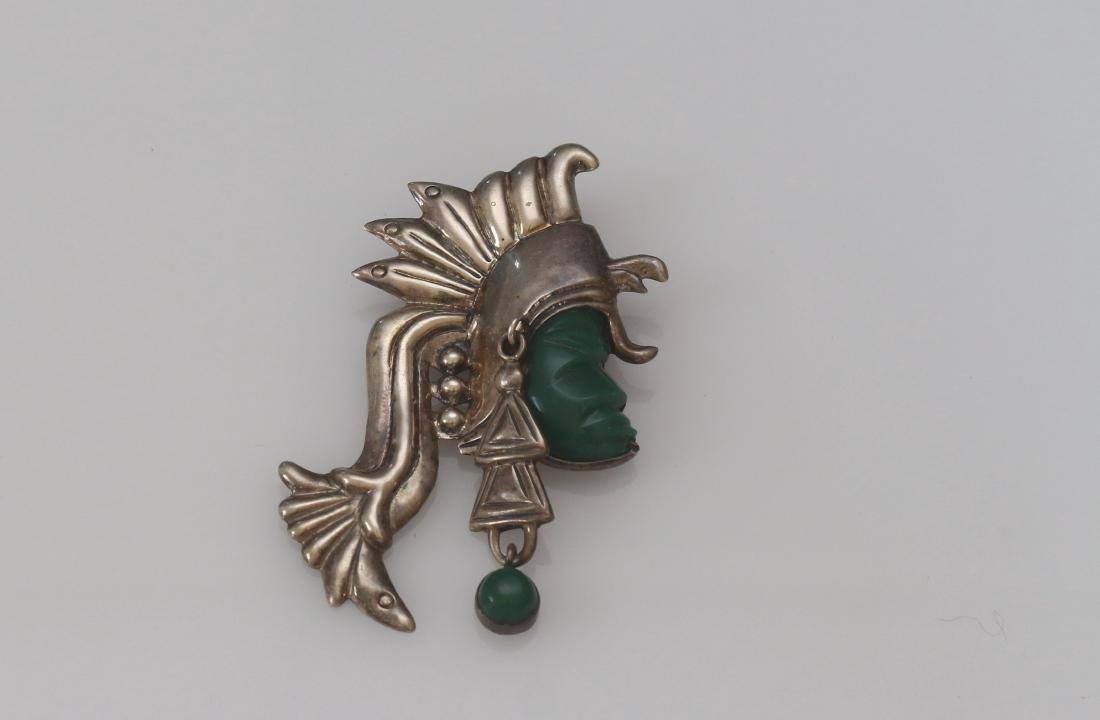 STERLING VINTAGE MEXICO BROACH