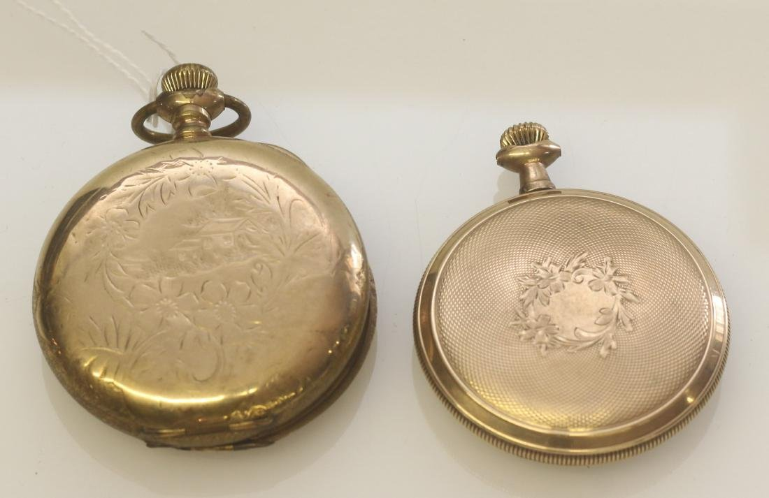 (2) ELGIN AMERICAN POCKET WATCHES - 3