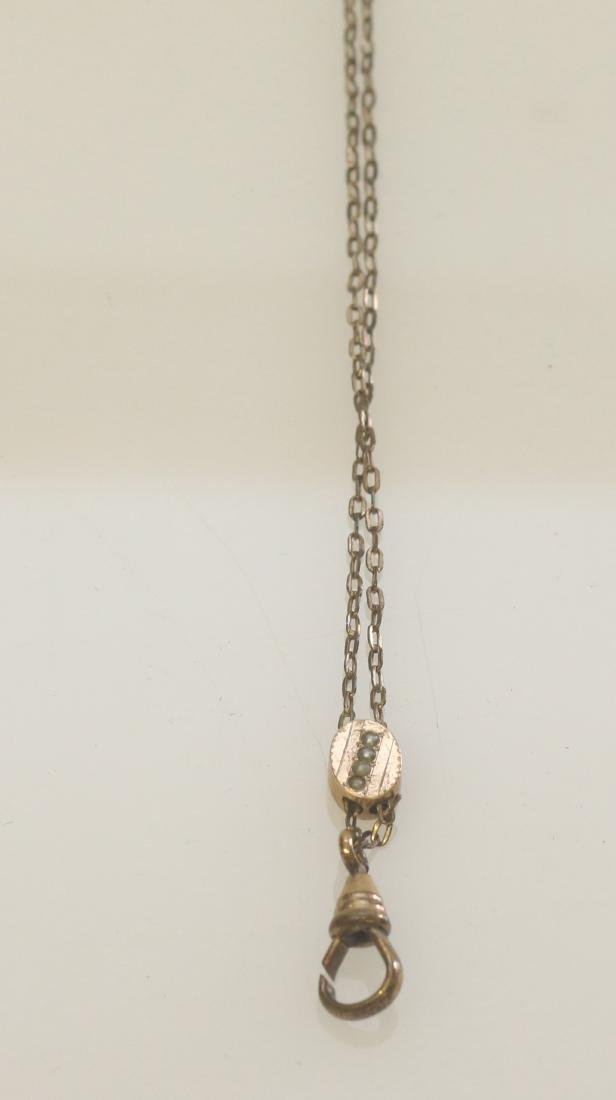 VICTORIAN WATCH CHAIN AND SLIDE - 2