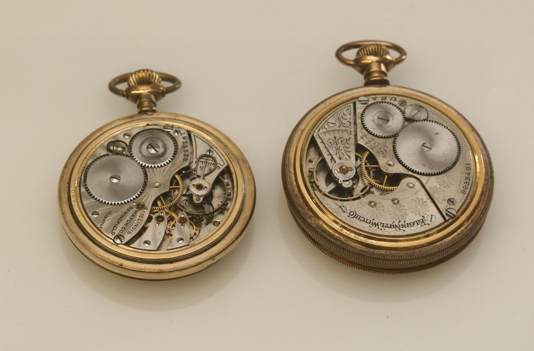 ILLINOIS AND ELGIN POCKET WATCH - 2