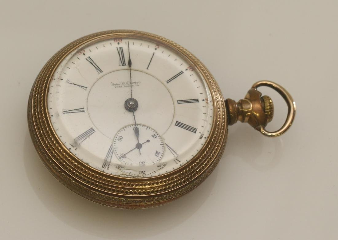 JOHN CARTER FORT RIDGE, IA POCKET WATCH