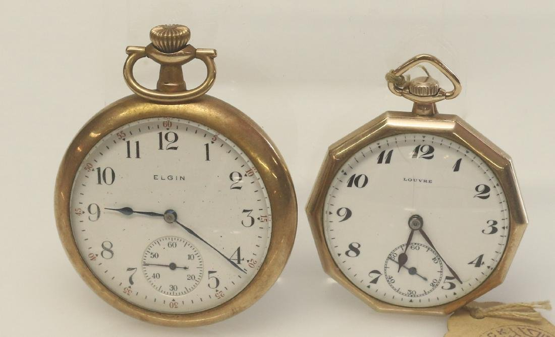 ELGIN AND LOUVRE POCKET WATCHES