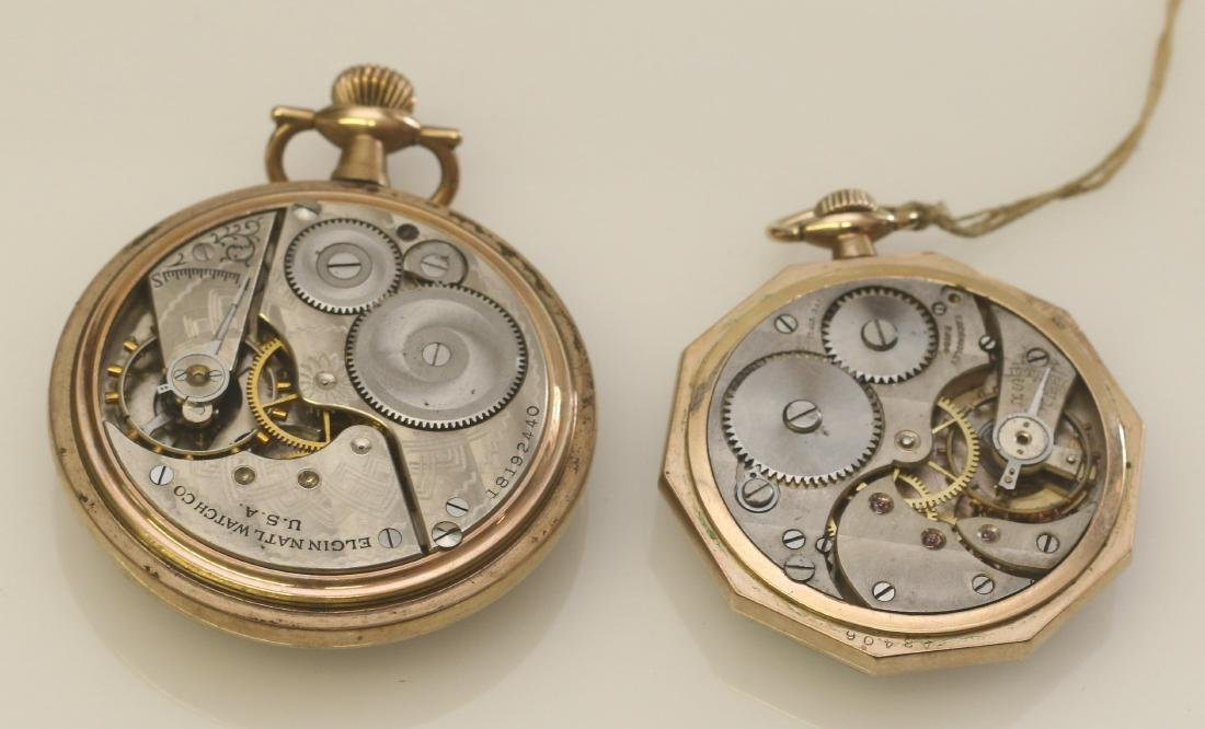 ELGIN AND LOUVRE POCKET WATCHES - 2