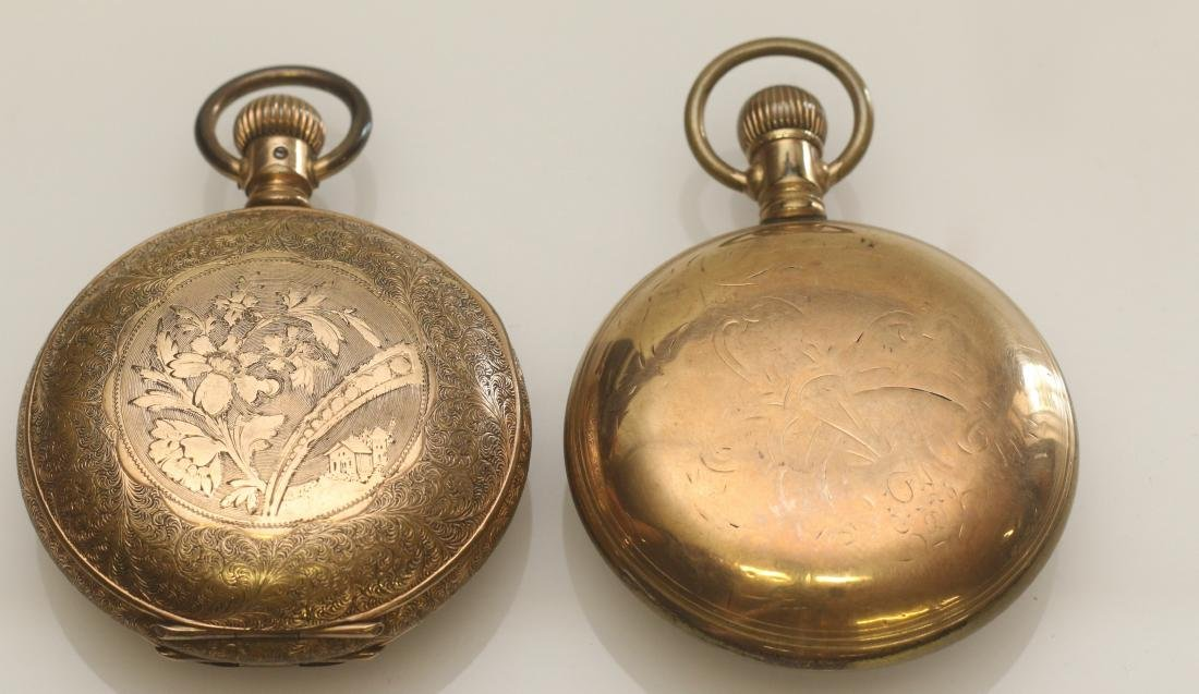 ILLINOIS AND ELGIN POCKET WATCH - 3