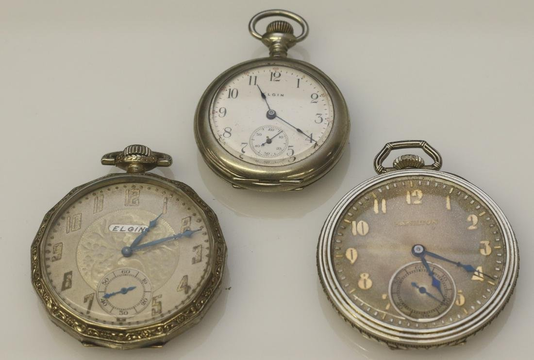 (3) POCKET WATCHES