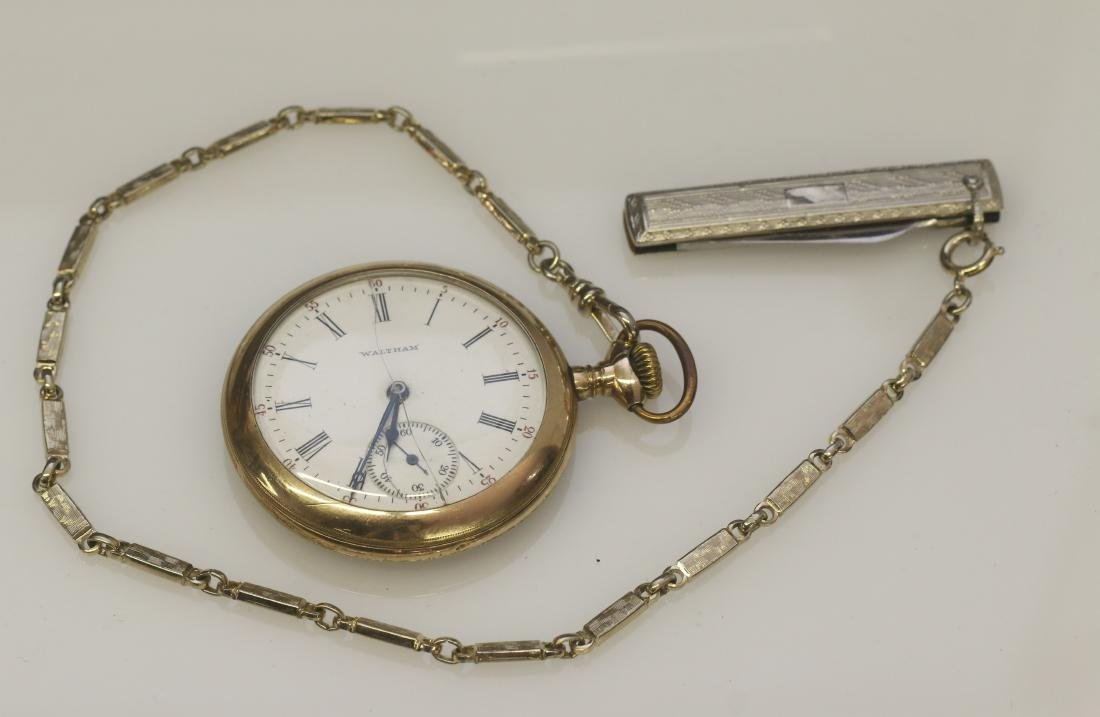 WALTHAM WATCH AND CHAIN