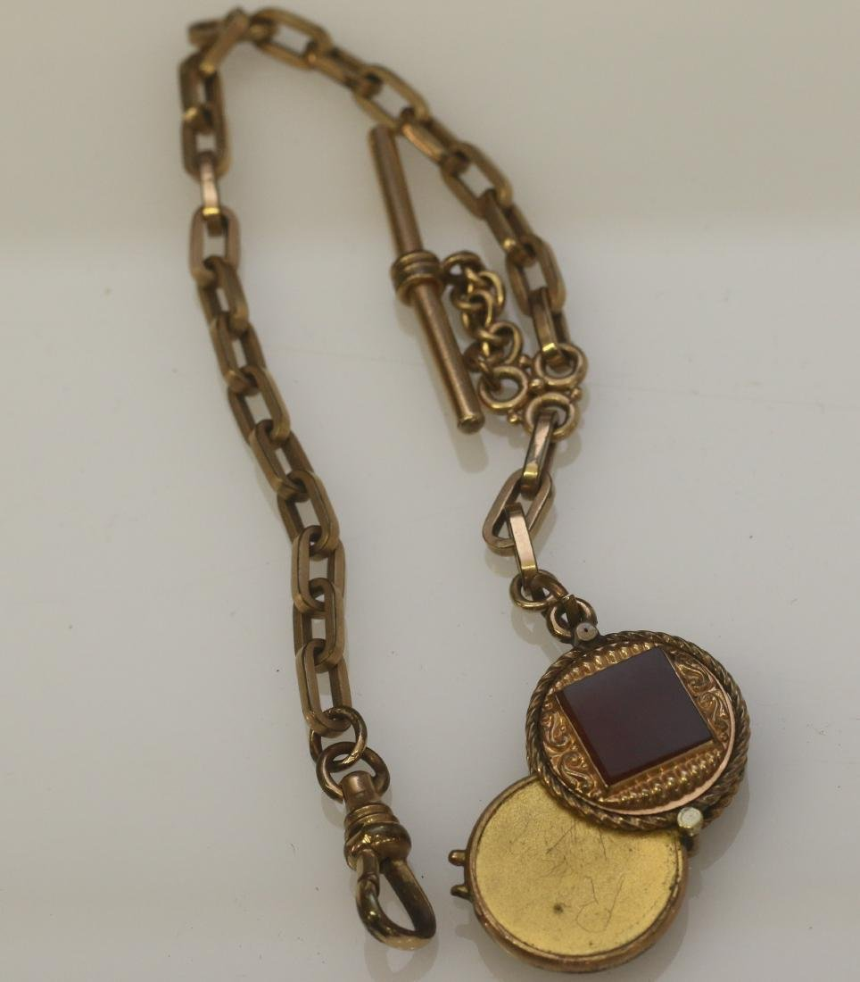 VICTORIAN GOLD FILLED WATCH CHAIN - 2