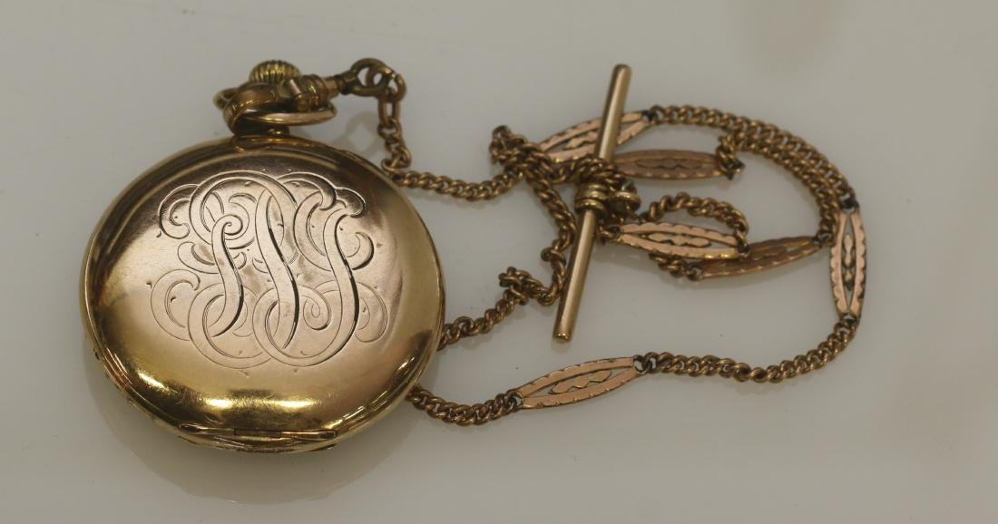 ILLINOIS POCKET WATCH AND CHAIN - 2
