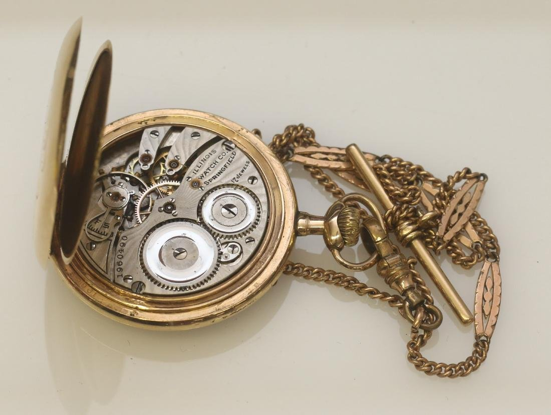 ILLINOIS POCKET WATCH AND CHAIN - 3