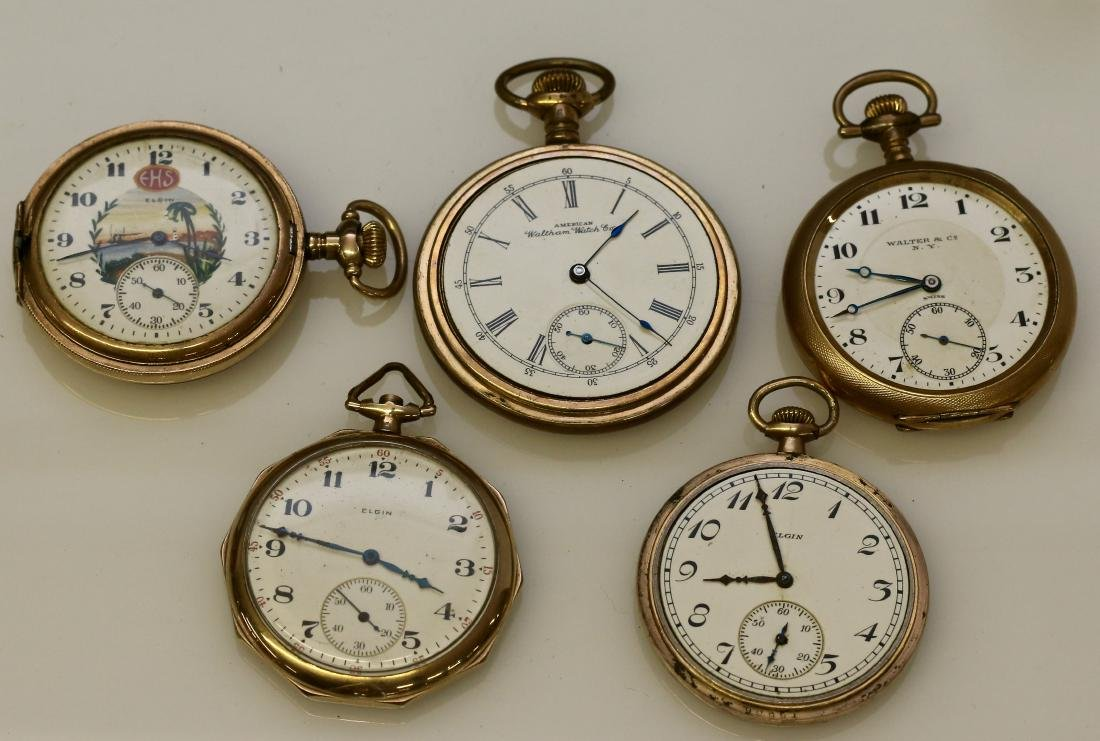 (5) POCKET WATCHES