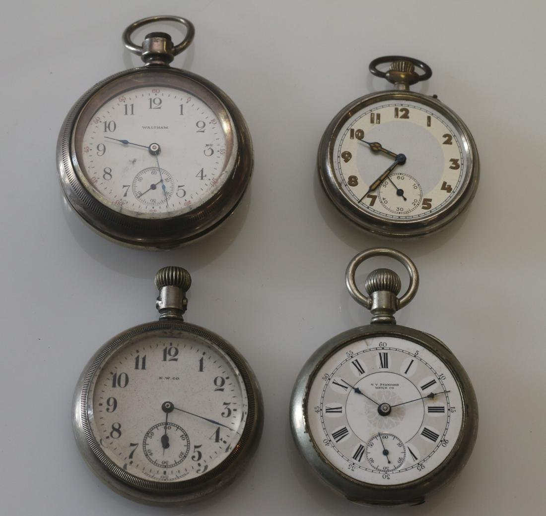 (4) POCKET WATCHES