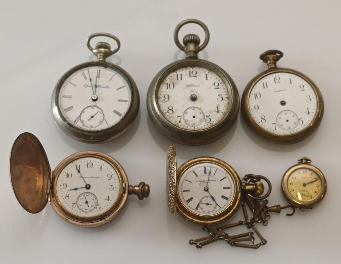 LOT OF (6) POCKET WATCHES