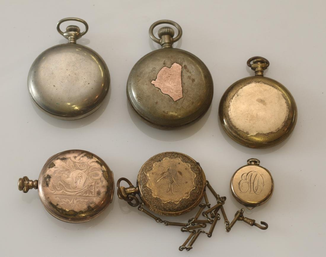 LOT OF (6) POCKET WATCHES - 2