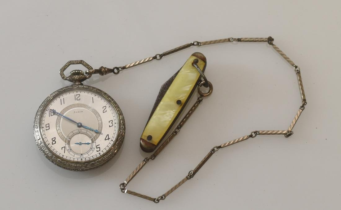 ELGIN POCKET WATCH AND CHAIN