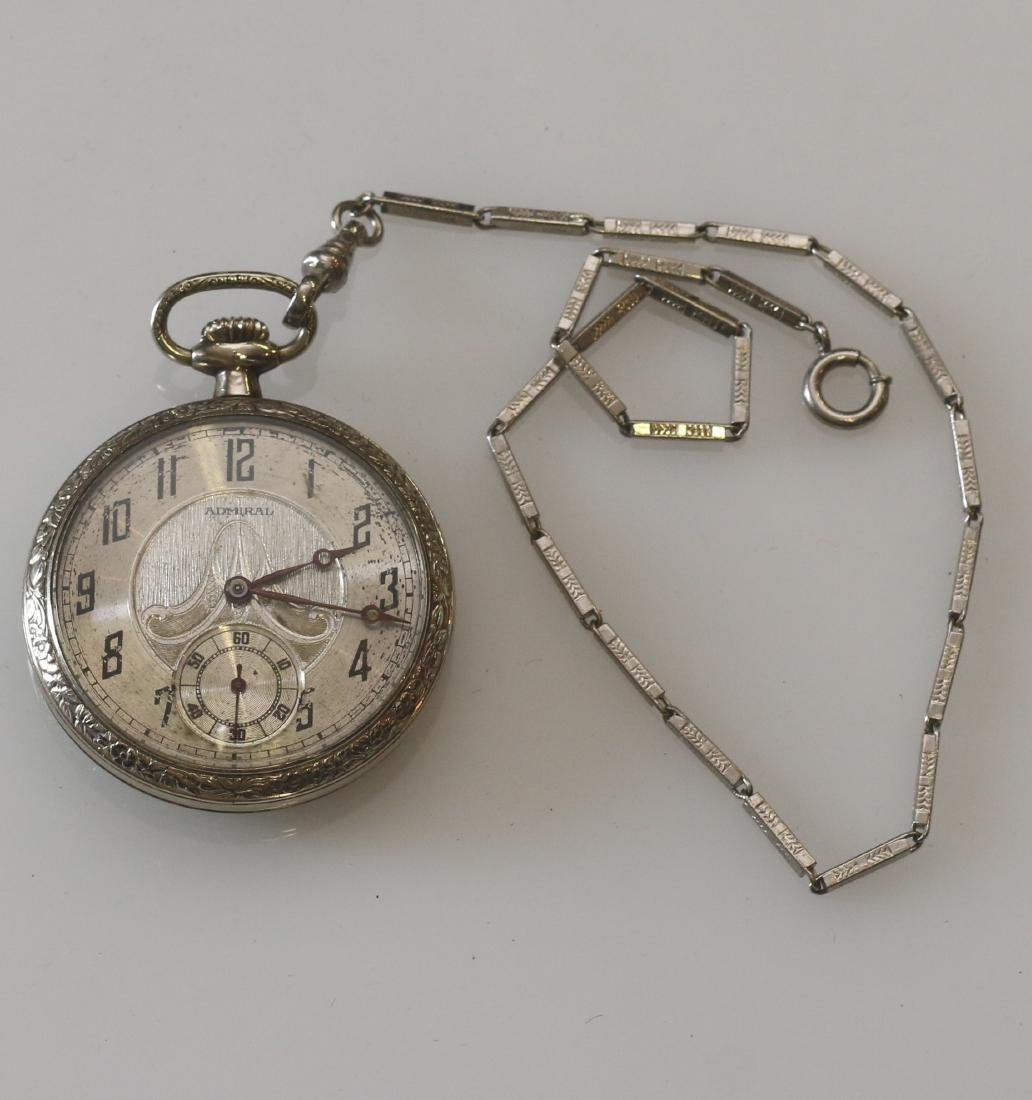 ADMIRAL POCKET WATCH AND CHAIN