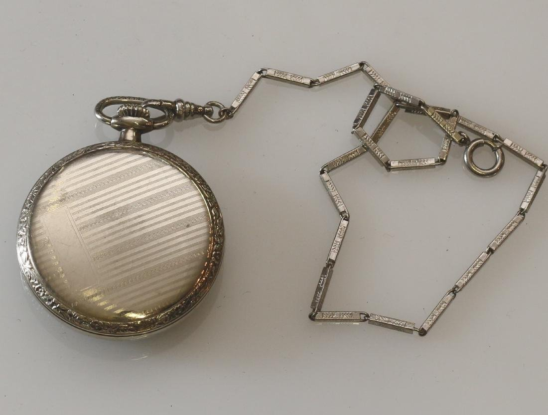 ADMIRAL POCKET WATCH AND CHAIN - 2