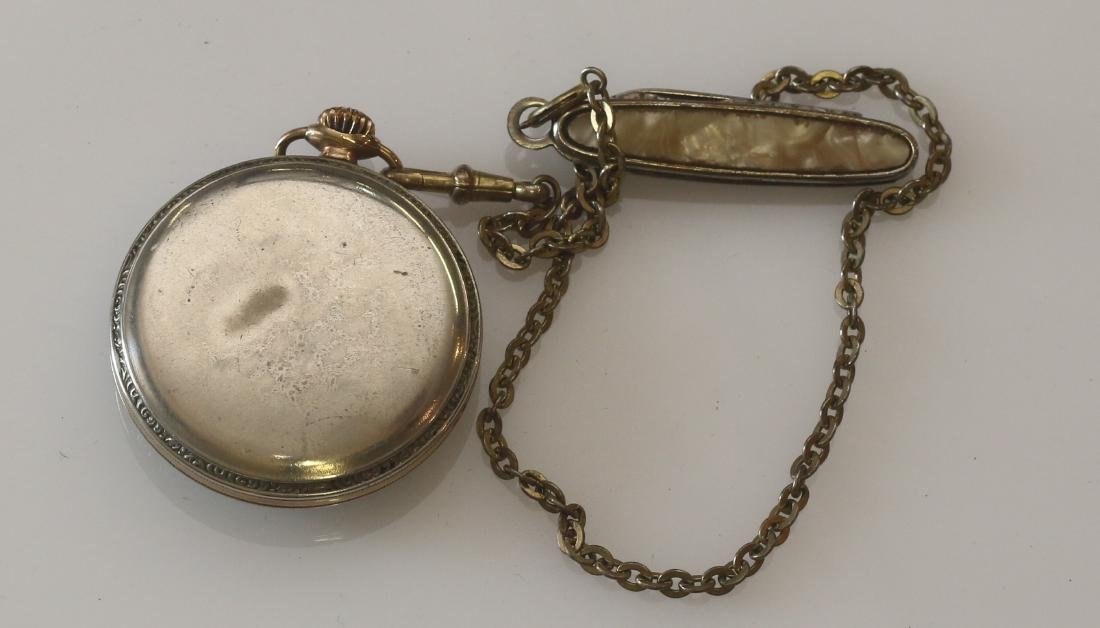 ELGIN POCKET WATCH AND CHAIN - 3
