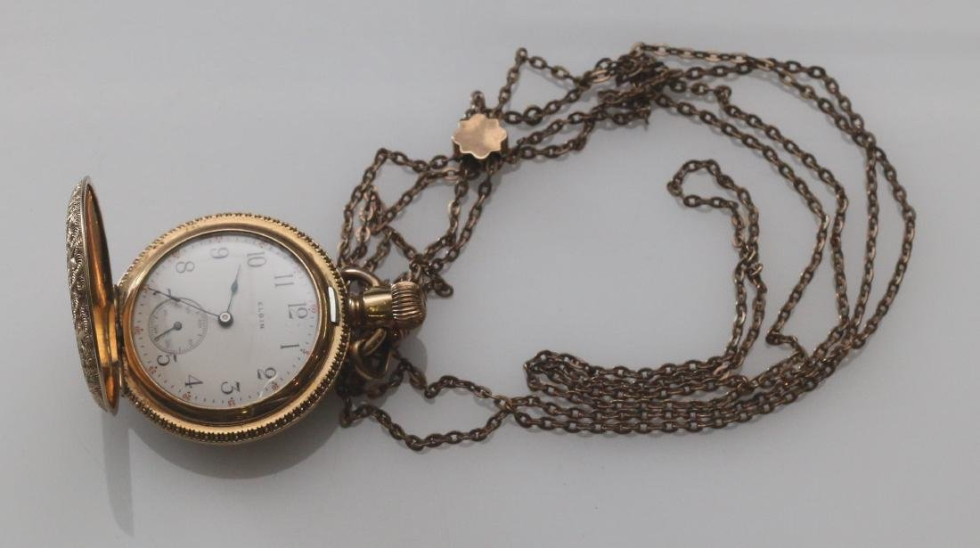 LADIES POCKET WATCH AND CHAIN