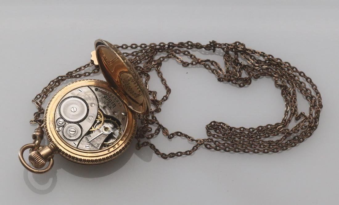 LADIES POCKET WATCH AND CHAIN - 3
