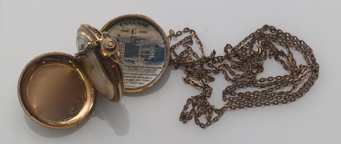 LADIES POCKET WATCH AND CHAIN - 4