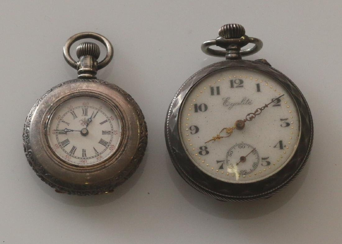 (2) SILVER POCKET WATCHES